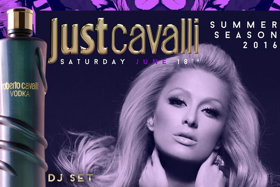 Paris Hilton DJ SET al Just Cavalli Milano