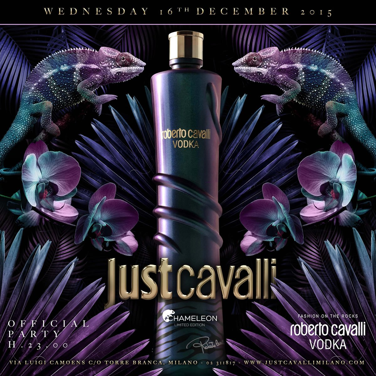 CHAMELEON PARTY ROBERTO CAVALLI VODKA