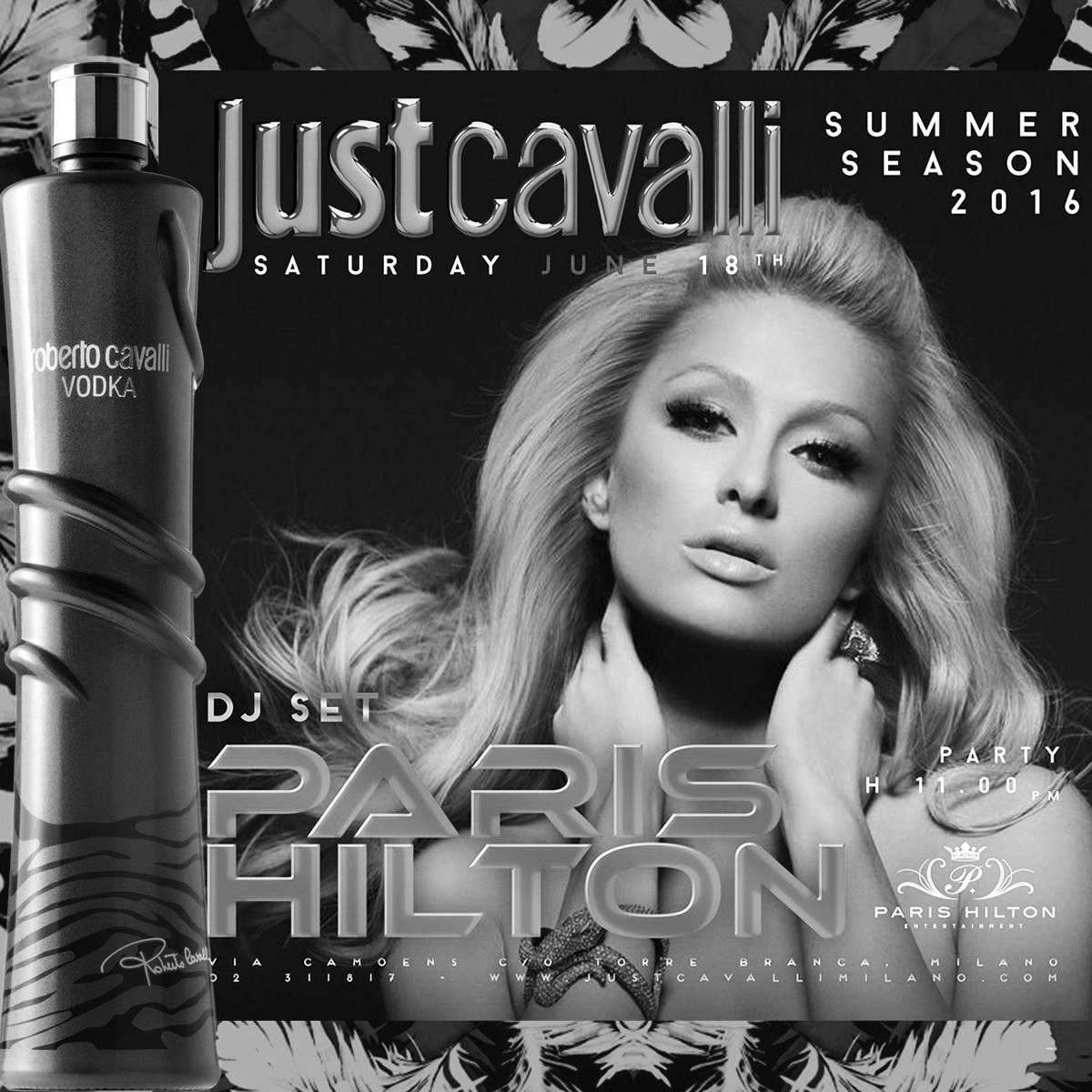 PARIS HILTON DJ SET AL JUST CAVALLI MILANO