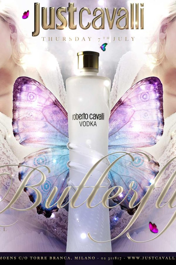 BUTTERFLY SUMMER SEASON<br/>OFFICIAL PARTY<br/>JUST CAVALLI MILANO
